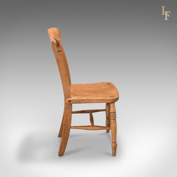 Victorian Elm Station Chair, c.1850