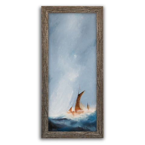Slimline Sailing Seascape, Oil Painting, Marine, Maritime, Ship, Art, Original - London Fine Antiques