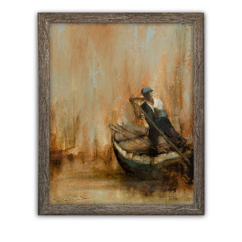 "Riverside Portrait, Oil Painting, Marine, Maritime, Original, Art, 20.25"" x 25"" - London Fine Antiques"