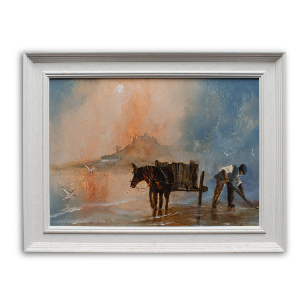 "Framed Equine Landscape, Oil Painting, Cornwall, Art, Original, 21.75""x16.5"" - London Fine Antiques"