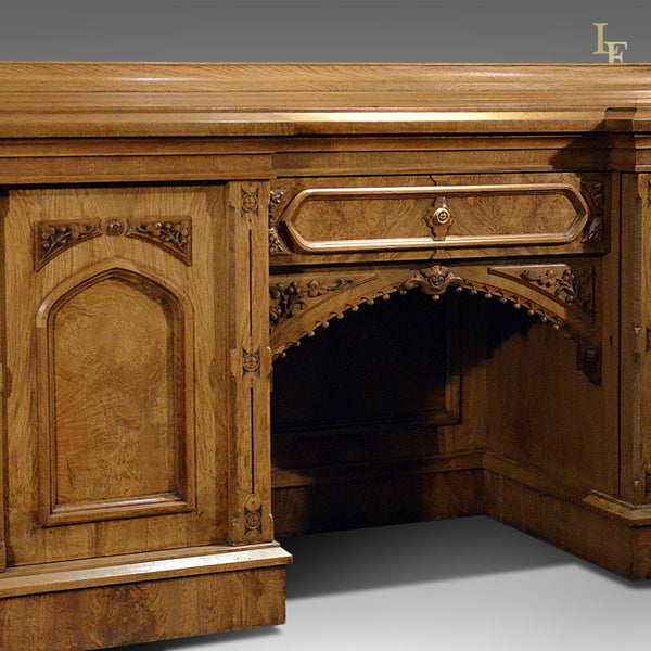 Large Antique Sideboard Buffet, Victorian c.1880 - London Fine Antiques