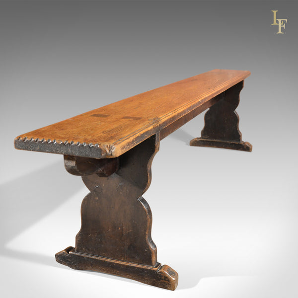 Long Victorian Kitchen Antique Bench - London Fine Antiques