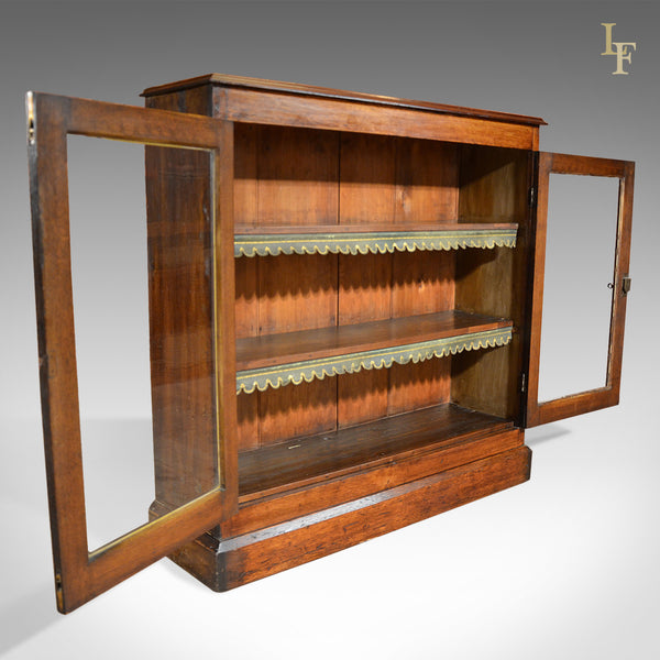 Antique Bookcase Victorian Glazed Display Cabinet - London Fine Antiques