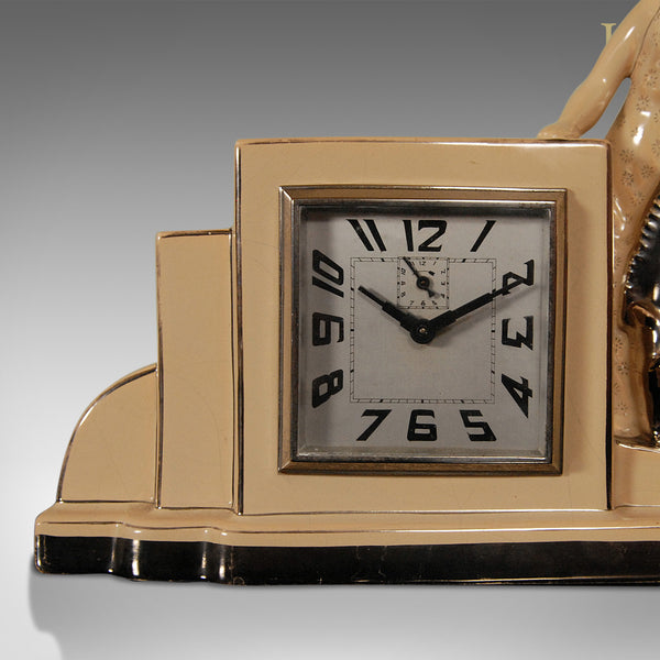 Art Deco Clock & Garnitures, Antique - London Fine Antiques