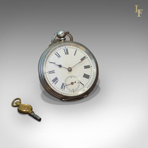 Antique Pocket Watch, Silver Cased Chester 1884 - London Fine Antiques