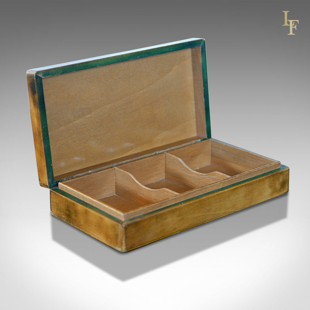 Mid Century Leather Card Box, Liberty of London - London Fine Antiques