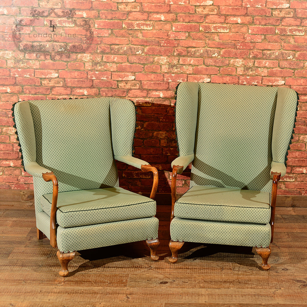 Chairs & Seating-Pair of Mid Century Wing Back Chairs - 1