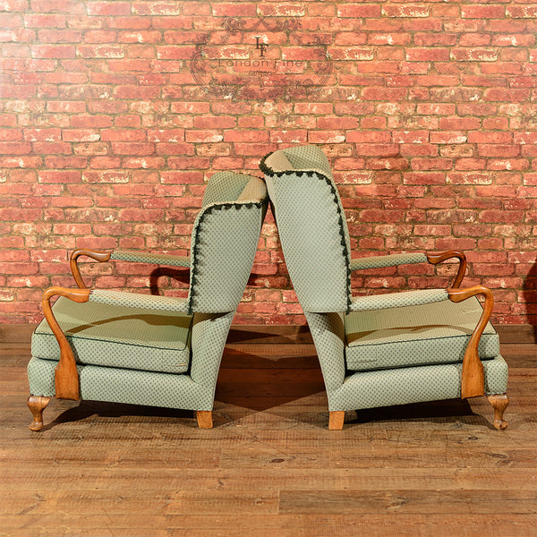Chairs & Seating-Pair of Mid Century Wing Back Chairs - 3