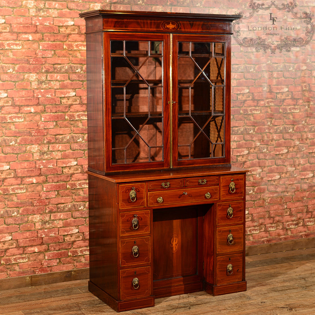 Georgian Bureau Bookcase, c.1800 - London Fine Antiques
