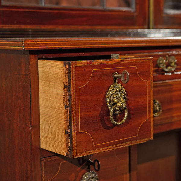Georgian Bureau Bookcase, c.1800 - London Fine Antiques - 4