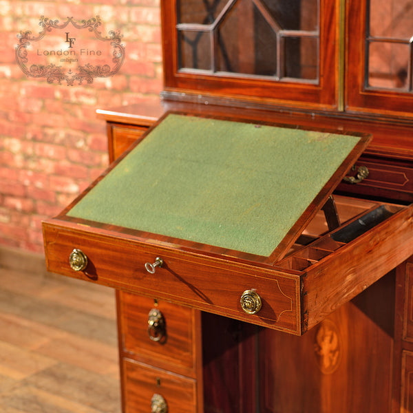 Georgian Bureau Bookcase, c.1800 - London Fine Antiques - 6