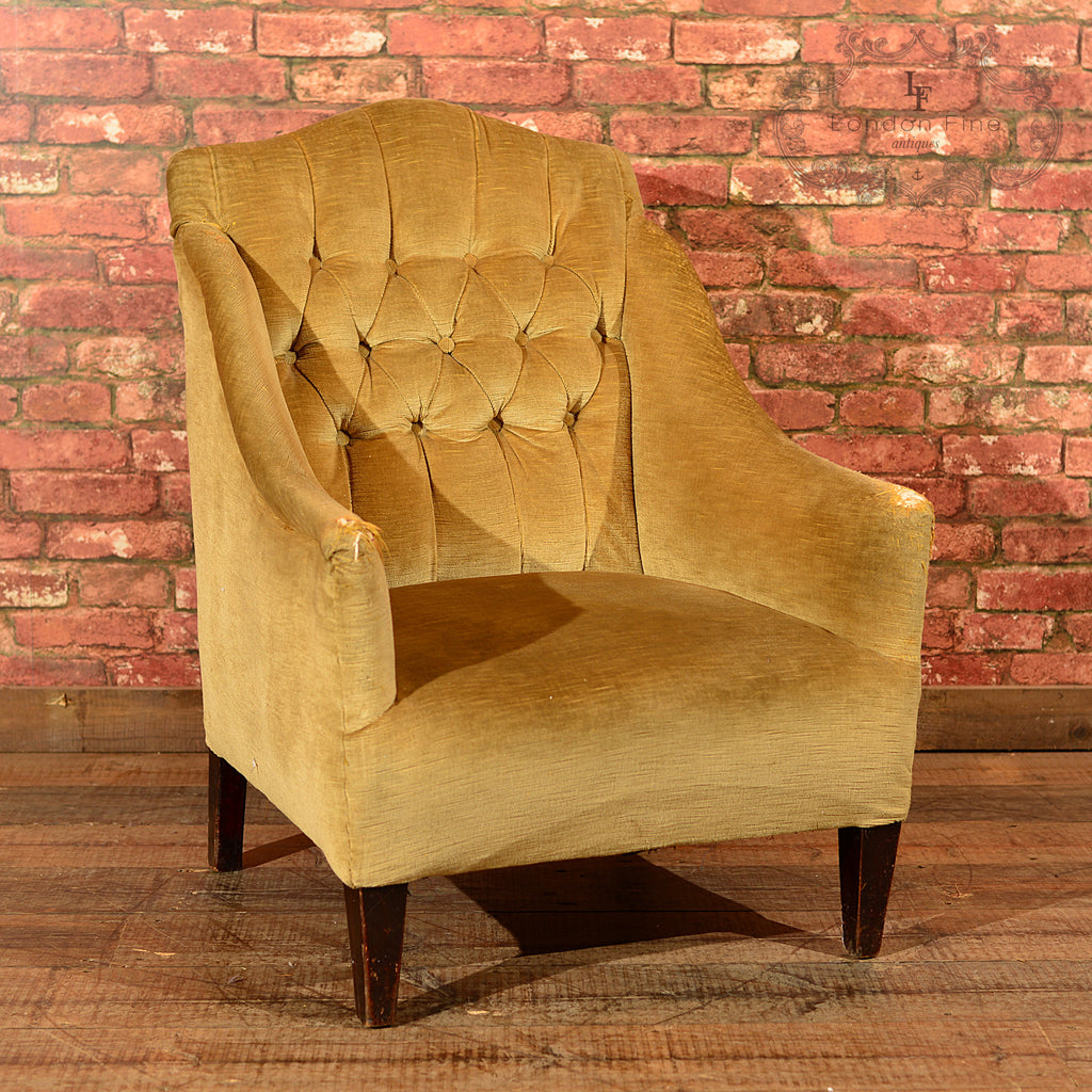 Edwardian Button Back Easy Chair, c.1910 - London Fine Antiques