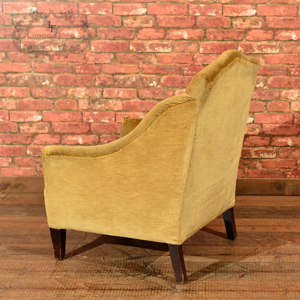 Edwardian Button Back Easy Chair, c.1910 - London Fine Antiques - 4