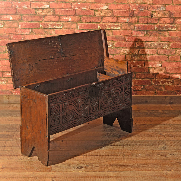 Cromwellian Six Plank Chest, c.1650 - London Fine Antiques