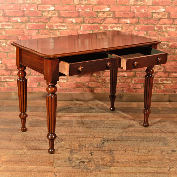 Victorian Mahogany Writing Table, c.1870 - London Fine Antiques - 3