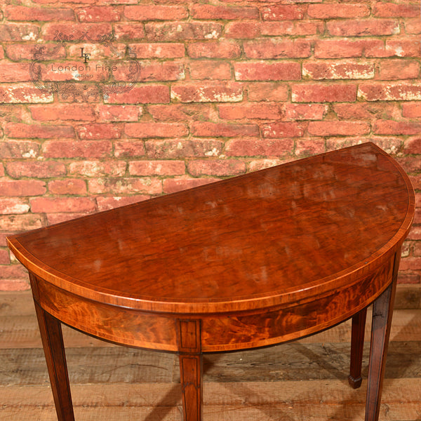 Georgian Demi-Lune Card Table, c.1760 - London Fine Antiques