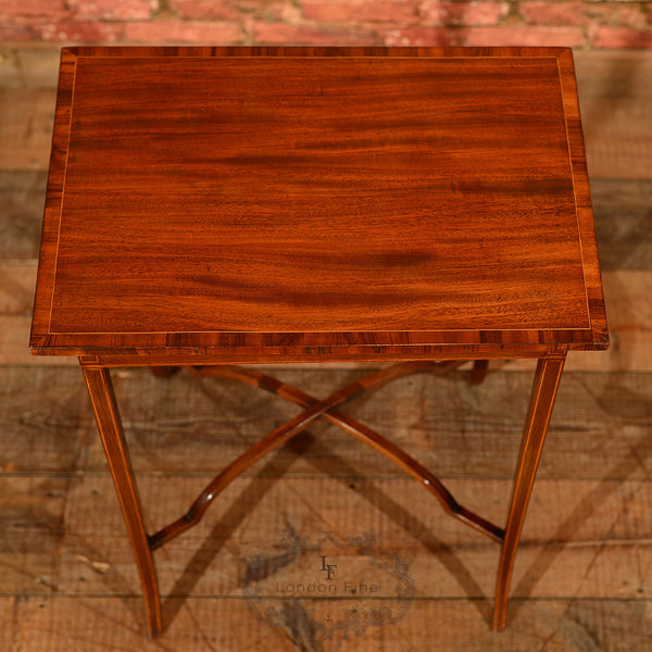 Edwardian Mahogany Side Table, c.1910 - London Fine Antiques - 4