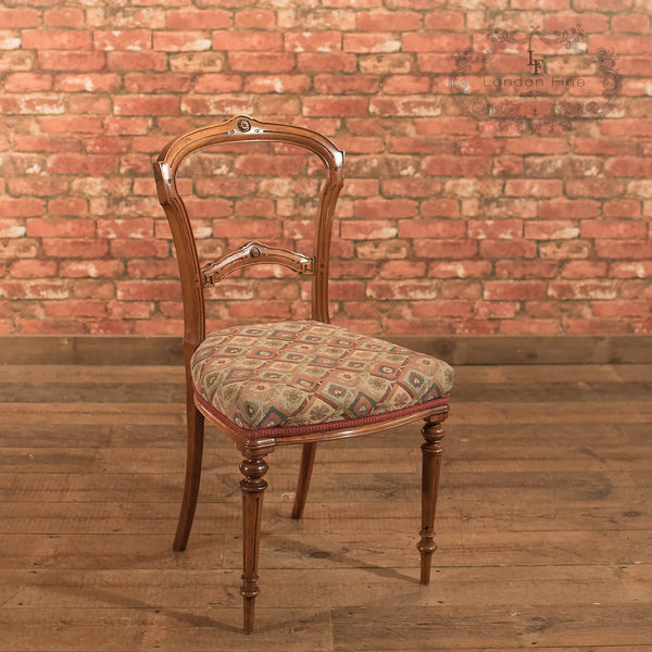 Chairs & Seating-Set of 6 Antique Dining Chairs, Aesthetic Movement - 3