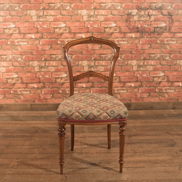 Chairs & Seating-Set of 6 Antique Dining Chairs, Aesthetic Movement - 4