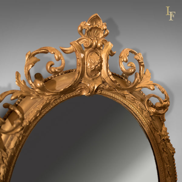Antique Girandole Gilt Gesso Mirror C 1800 London Fine