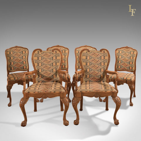 Antique Dining Chairs, French Set of Six C19th - London Fine Antiques