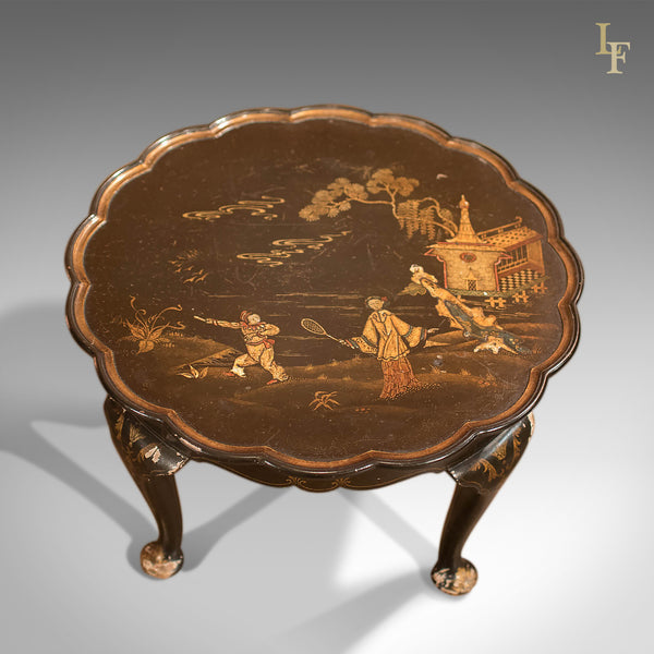 Antique Lacquered Pie Crust Tea Table, c1900 - London Fine Antiques