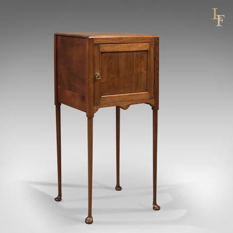 Antique Bedside Cabinet, Georgian Pot Cupboard Nightstand - London Fine Antiques