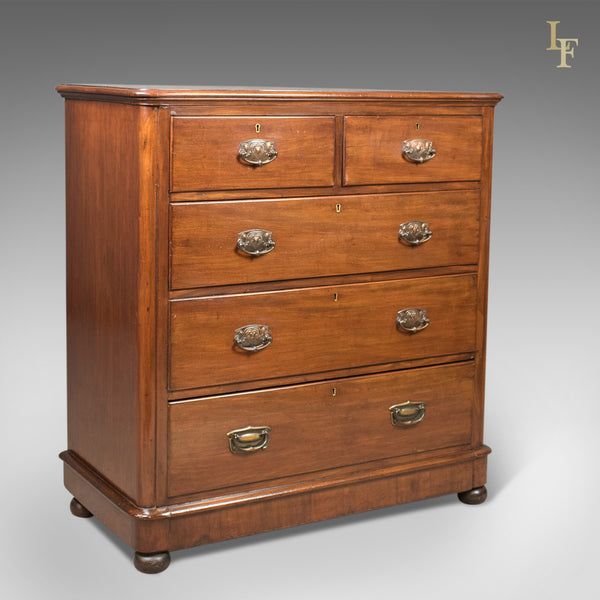Antique Chest of Drawers, Victorian Mahogany c.1880 - London Fine Antiques