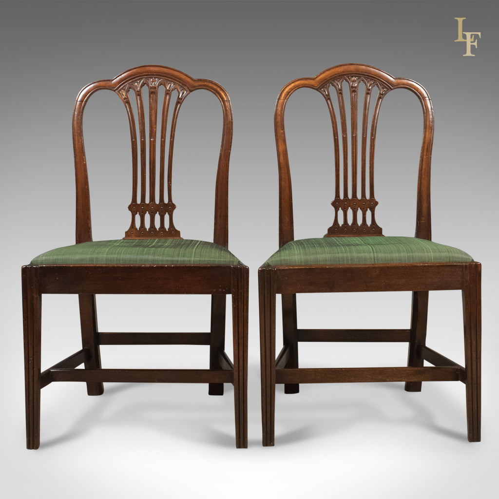 Pair of Antique Chairs, After Hepplewhite, Georgian c.1780 - London Fine Antiques