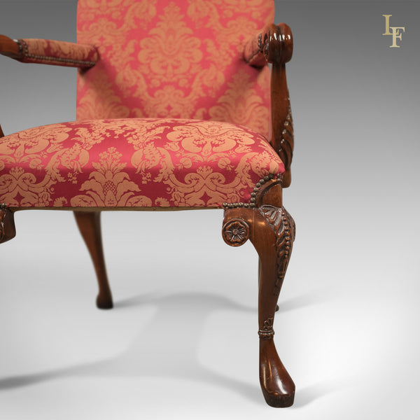 Set of 10 Upholstered Dining Chairs, C20th in Early C18th Manner - London Fine Antiques