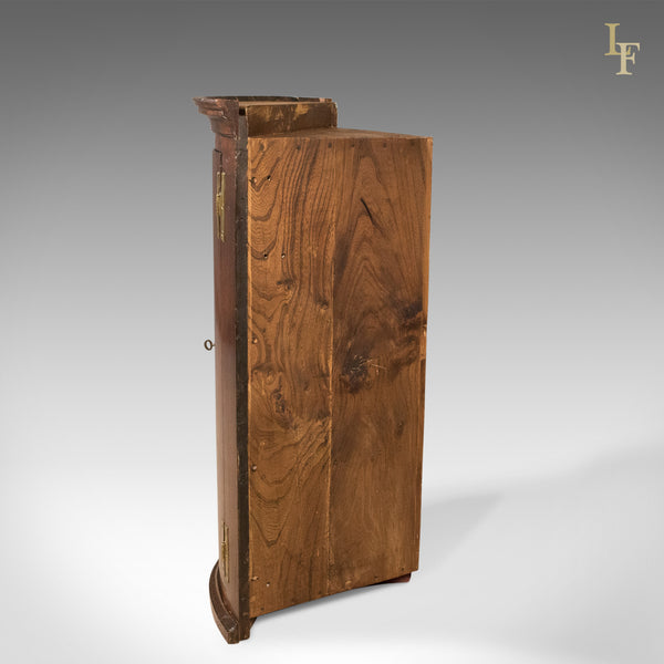Bow Fronted Antique Corner Cabinet, Georgian c.1725 - London Fine Antiques