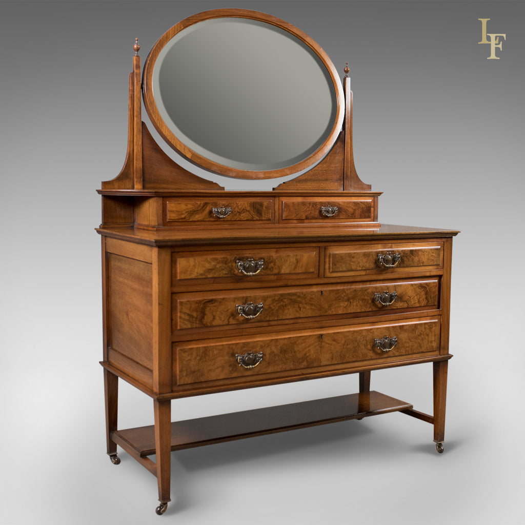Antique Dressing Table, Edwardian Vanity Chest of Drawers, English, c.1910 - London Fine Antiques