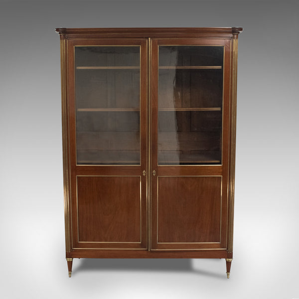 19th Century French Louis XVI Revival Two Door Bookcase Vitrine Cabinet, c.1880 - London Fine Antiques