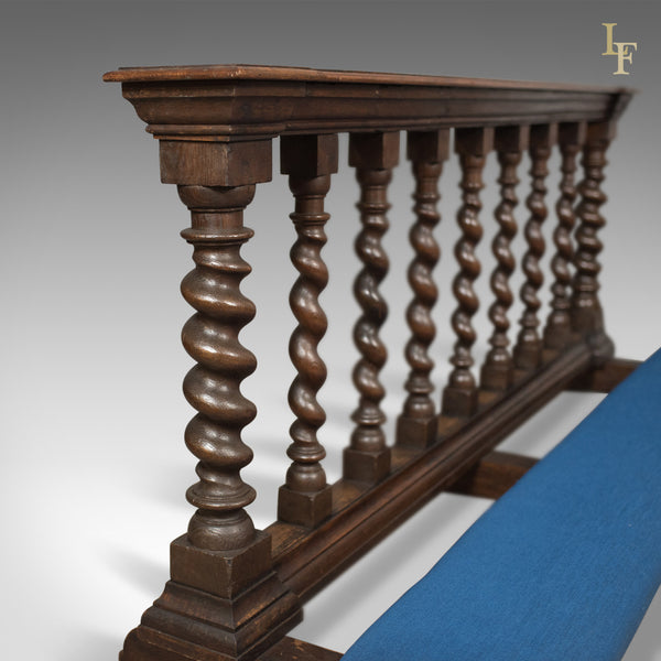 Antique Communion Rail in English Oak, Victorian Ecclesiastical c.1900 - London Fine Antiques