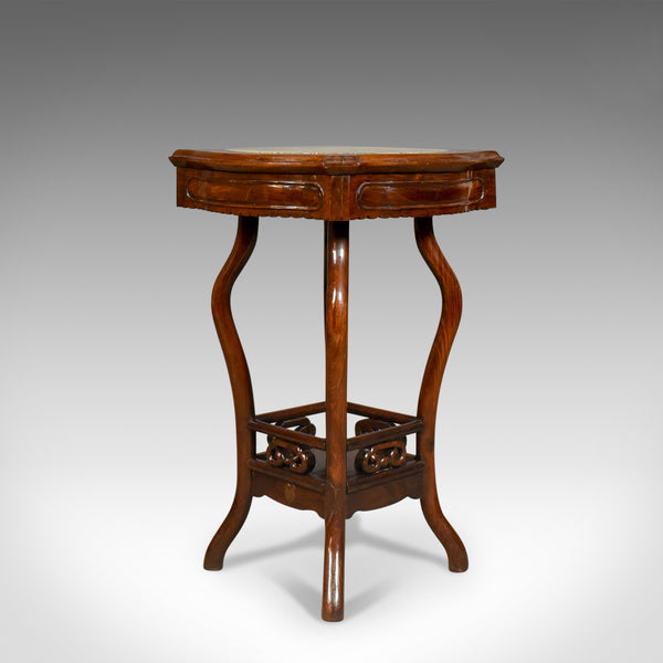 Chinese Antique Side Table, Rosewood And Marble, British Empire Exhibition 1924 - London Fine Antiques