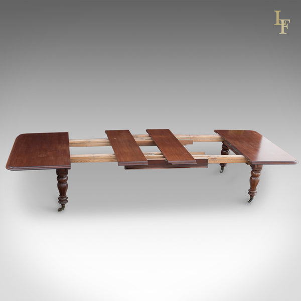 Large Antique Extending Dining Table, Victorian c.1870 - London Fine Antiques