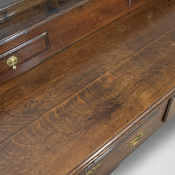 Large Antique Dresser Base, Early Georgian, 1750 & Later, English, Oak - London Fine Antiques