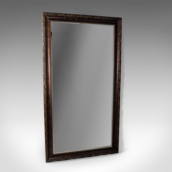 Large Victorian Revival Wall or Floor Mirror, Late 20th Century