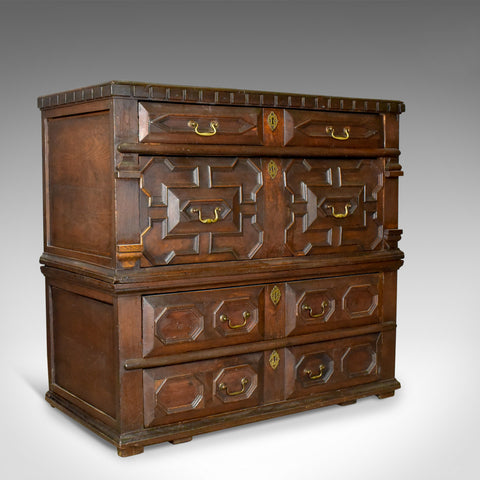 Large Antique Chest Of Drawers, 17th Century, English, Oak - London Fine Antiques