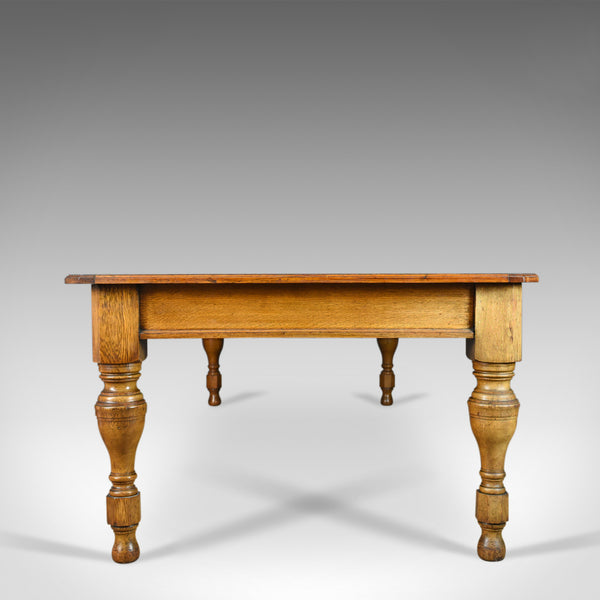 Large Antique Dining Table, English, Late Victorian, Oak, Seating 12, Circa 1900