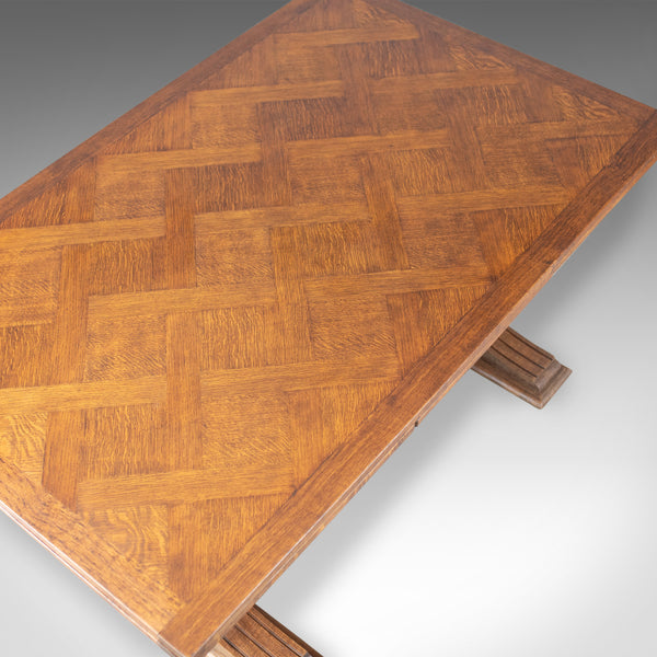 Large Antique Dining Table, French, Draw Leaf, Extending, Parquet, Dining c.1900 - London Fine Antiques