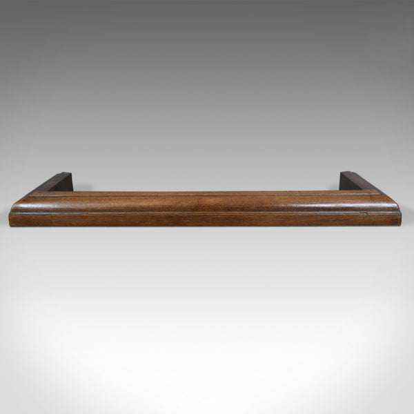 Large Antique Fire Kerb, English, Victorian, Oak, Fireside Fender, Circa 1870