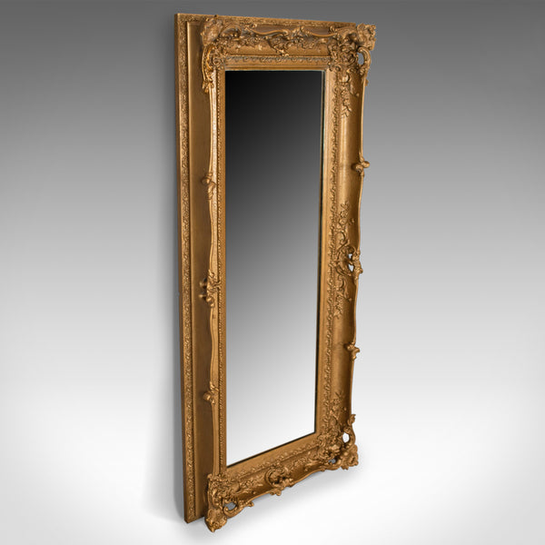 Large Antique Mirror, Tall, Victorian, Gilt Gesso, Dressing, 19th Century c.1850