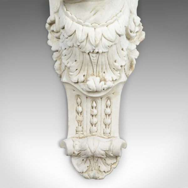 Large Antique Plaster Wall Bracket, Architectural, Figural, Angel, Corbel, c1900 - London Fine Antiques
