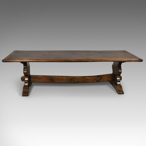 Large Antique Refectory Dining Table, C17th Taste, English Oak, Edwardian c.1910 - London Fine Antiques