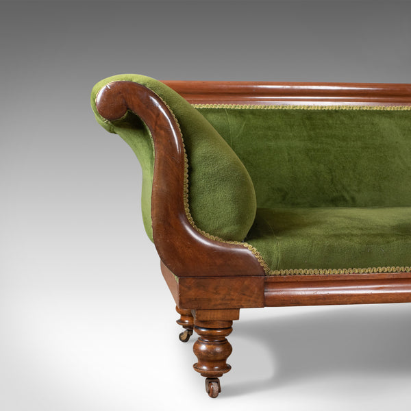 Large Antique Settee, Regency, Mahogany, Scroll End Sofa, Daybed, Circa 1820 - London Fine Antiques