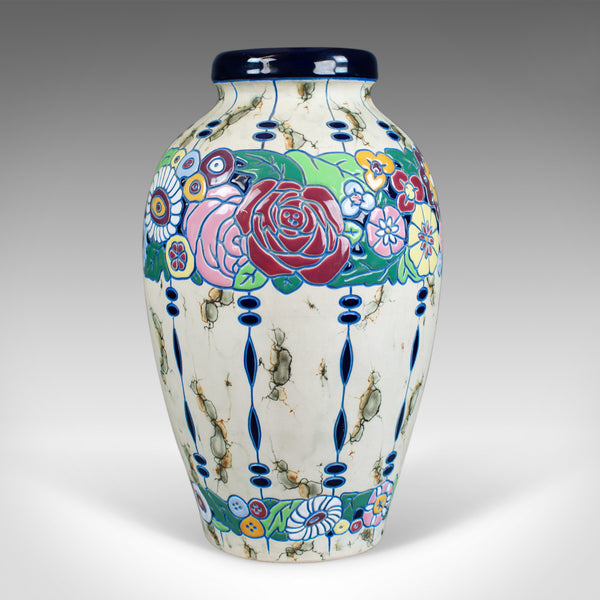 Large Baluster Vase, Czechoslovakian Amphora Pottery, Mid 20th Century - London Fine Antiques