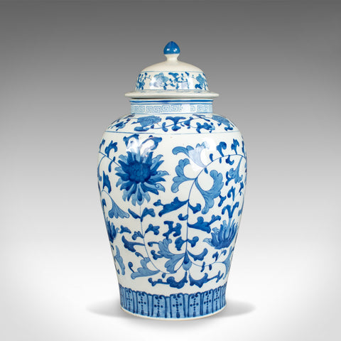 Large Baluster Vase and Cover, Blue & White, Chinese, Ceramic, Urn, C20th