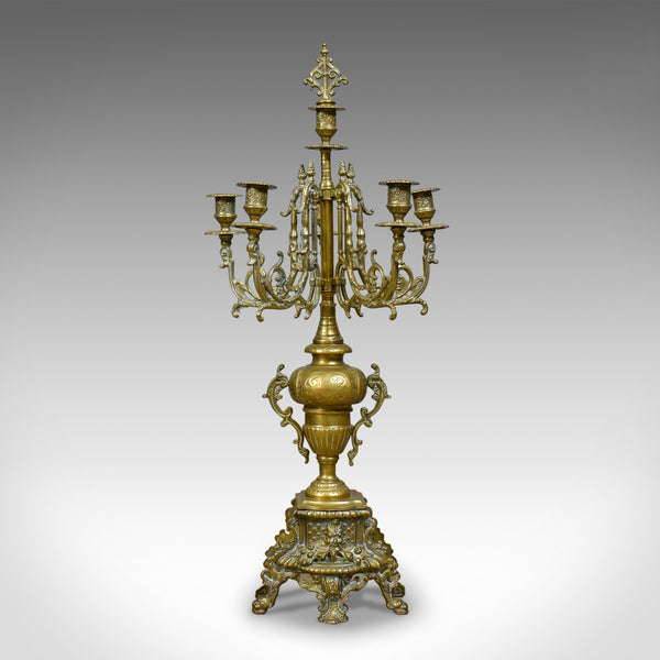 Large Candelabra, 19th Century, French, Brass Gilt Centrepiece, Circa 1900 - London Fine Antiques