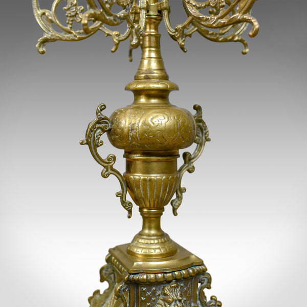 Large Candelabra, 19th Century, French, Brass Gilt Centrepiece, Circa 1900